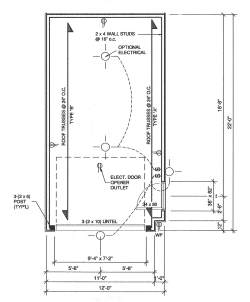 Single car garage plans find house plans for Single garage door width