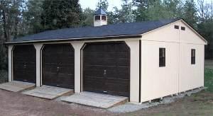 3 car modular garage