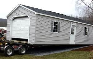 single car modular garage delivery