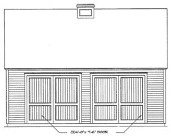 detached garage plan image