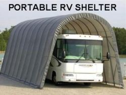Rv shelters advantages of rv ports rv garages and rv sheds for Rv storage building plans