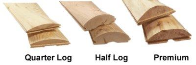 wood log siding types