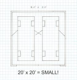 20 x 20 garage plans
