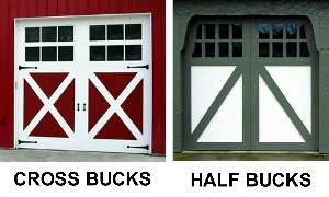 carriage style garage door cross bucks