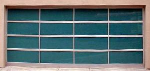 Glass Garage Door - Green