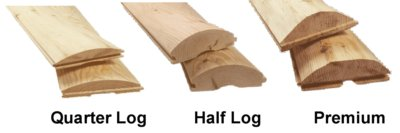 wood log siding types